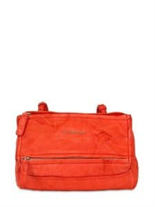 Givenchy Red Washed Leather Pandora Mini Bag