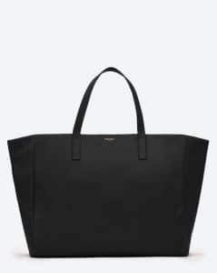 Saint Laurent Black Reversible Shopping Bag