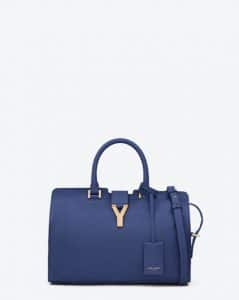 Saint Laurent Blue Petit Cabas Y Bag