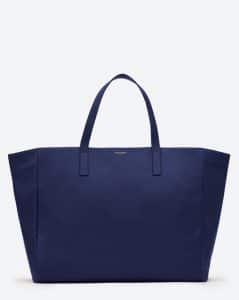 Saint Laurent Blue Reversible Shopping Bag