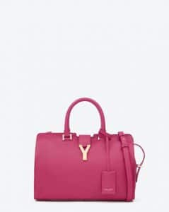 Saint Laurent Fuchsia Petit Cabas Y Bag