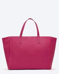 Saint Laurent Fucshia Reversible Shopping Bag