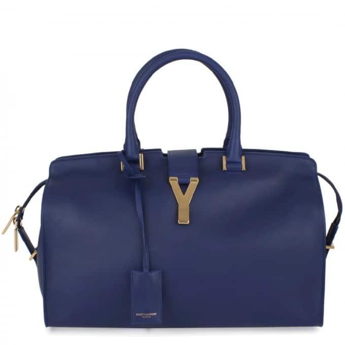 Saint Laurent Paris Blue Cabas Bag - Spring 2013