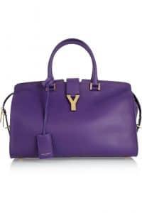 Saint Laurent Purple Cabas Bag - Spring 2013