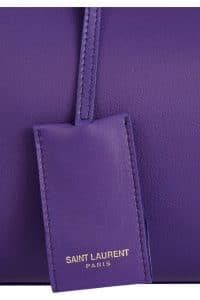 Saint Laurent Purple Cabas Bag - hang tag