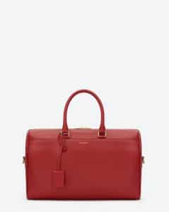 Saint Laurent Red Classic Duffle 12 Bag