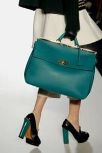 Muberry Turquoise Large Suffolk Bag