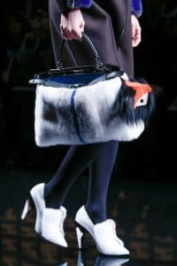 Fendi Fall 2013 Peekaboo Bag in White fur