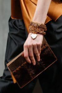 Bottega Veneta Fall 2013 Gold Clutch Bag 1