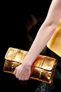 Bottega Veneta Fall 2013 Gold Clutch Bag 2