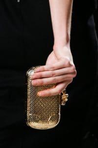 Bottega Veneta Fall 2013 Gold Minaudiere Clutch Bag