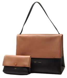 Celine Bicolor Camel All Soft Tote Bag