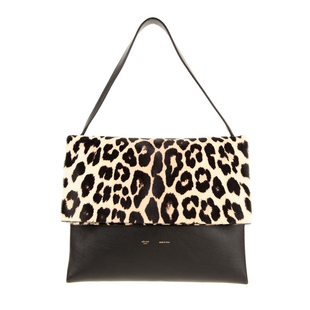 celine printed shoulder bag