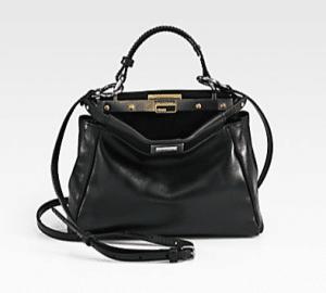 Fendi Black Peekaboo Mini Bag