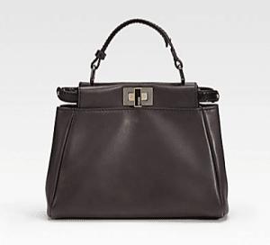 Fendi Dark Brown Peekaboo Mini Bag