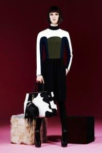 Fendi Pre-Fall 2013 Black and White 2Jours Bag