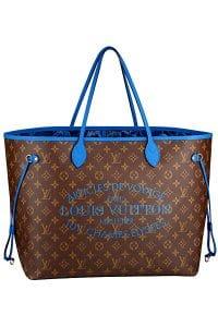 Louis Vuitton Blue Neverfull GM Bag