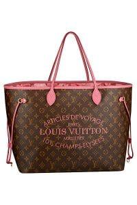 Louis Vuitton Rose Velour Neverfull GM Bag