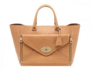 Mulberry Biscuit Brown Willow Tote Small Bag