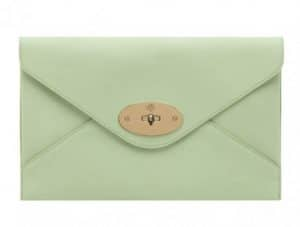 Mulberry Mint Willow Clutch Bag