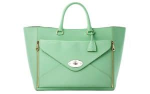 Mulberry Mint Willow Tote Oversized Bag