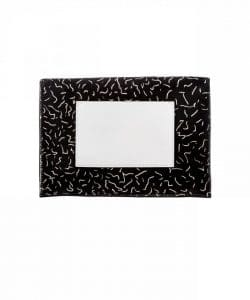 Proenza Schouler Black:Bone Printed Pony Hair Small Lunch Bag 2