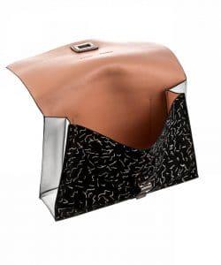 Proenza Schouler Black:Bone Printed Pony Hair Small Lunch Bag 3