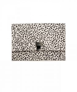 Proenza Schouler White:Black Printed Pony Hair Small Lunch Bag
