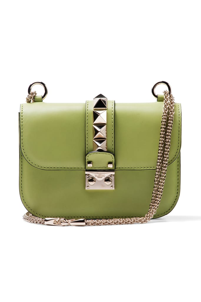 Valentino-Apple-Green-Rockstud-Flap-Bag.