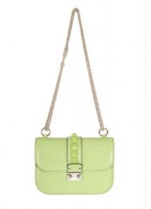 Valentino Apple Green Rockstud Flap Small Bag
