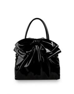 Valentino Black Bow Double Handle Tote Bag