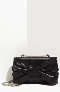 Valentino Black Bow Flap Bag