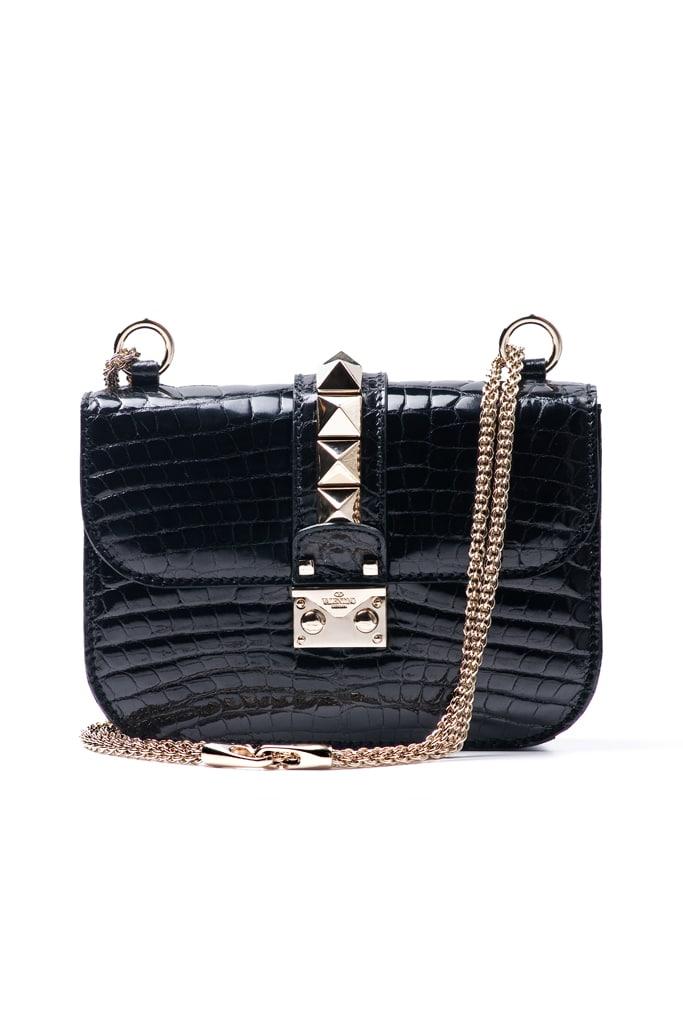 Valentino Bags Black Valentino Black Croc Rockstud