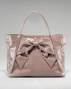 Valentino Brown Betty Bow Tote Bag
