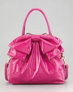 Valentino Fuchsia Bow Double Handle Tote Bag