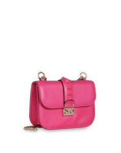 Valentino Fuchsia Rockstud Flap Small Bag 1
