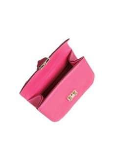 Valentino Fuchsia Rockstud Flap Small Bag 3