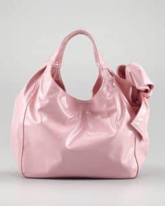 Valentino Light Pink Nuage Bow Tote Medium Bag