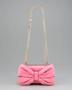 Valentino Pink Bow Flap Bag