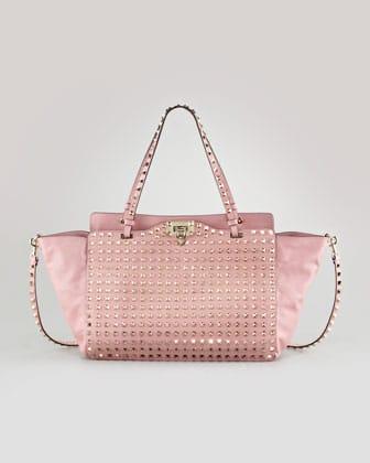 Valentino Pop Gardenia Rockstud Per Tote Medium Bag