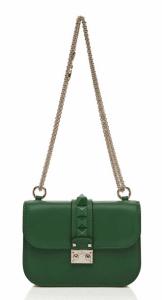 Valentino Pop Green Rockstud Flap Small Bag
