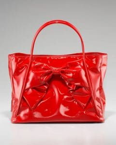 Valentino Red Betty Bow Tote Bag