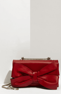 Valentino Red Bow Flap Bag