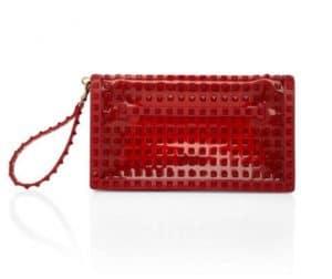 Valentino Rouge Rockstud Flap Clutch Bag