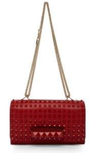 Valentino Rouge Rockstud Flap Shoulder Bag