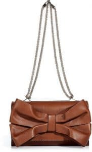 Valentino Toffee Bow Flap Bag