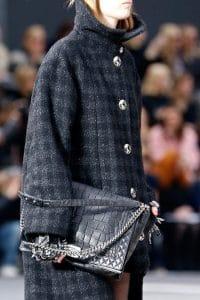 Chanel Black Crocodile Boy Flap Large Bag - Fall 2013 Runway