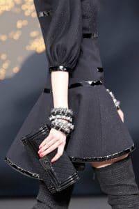 Chanel Black Flap Clutch Bag - Fall 2013 Runway