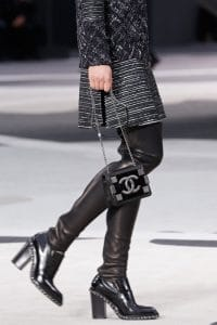 Chanel Black Flap Mini Bag - Fall 2013 Runway