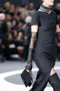Chanel Black Glittered Flap Bag - Fall 2013 Runway